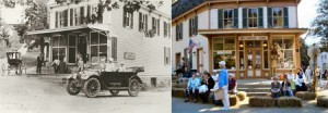 The Corner Store, in 1912 and in 2012.