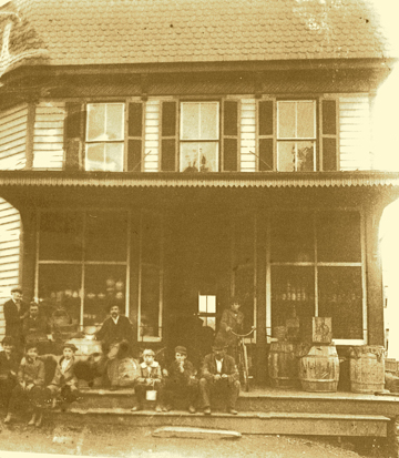The Corner Store circa 1900: Always a center of community life.