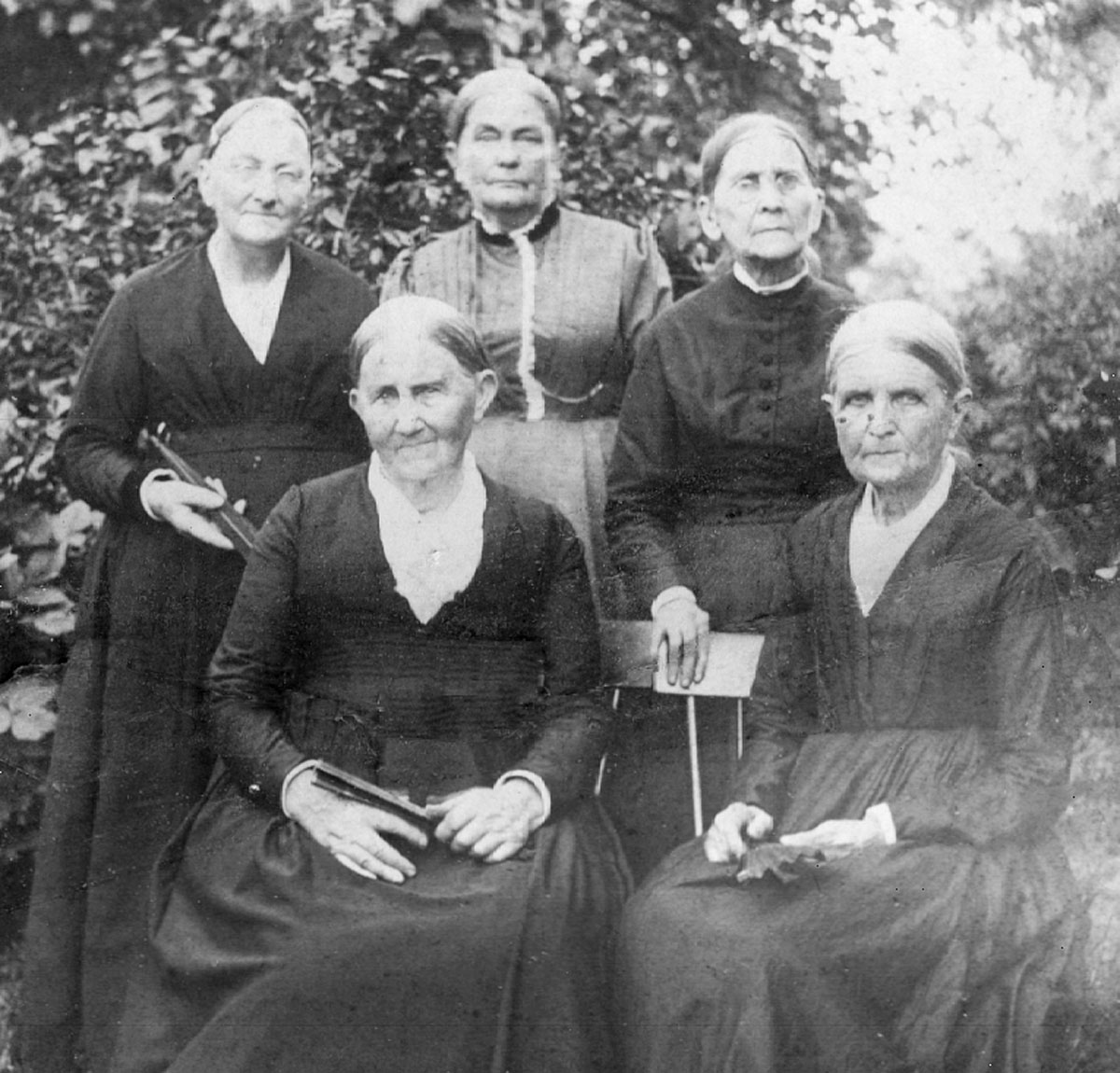 Quaker women of Fairfax Meeting, August 1891