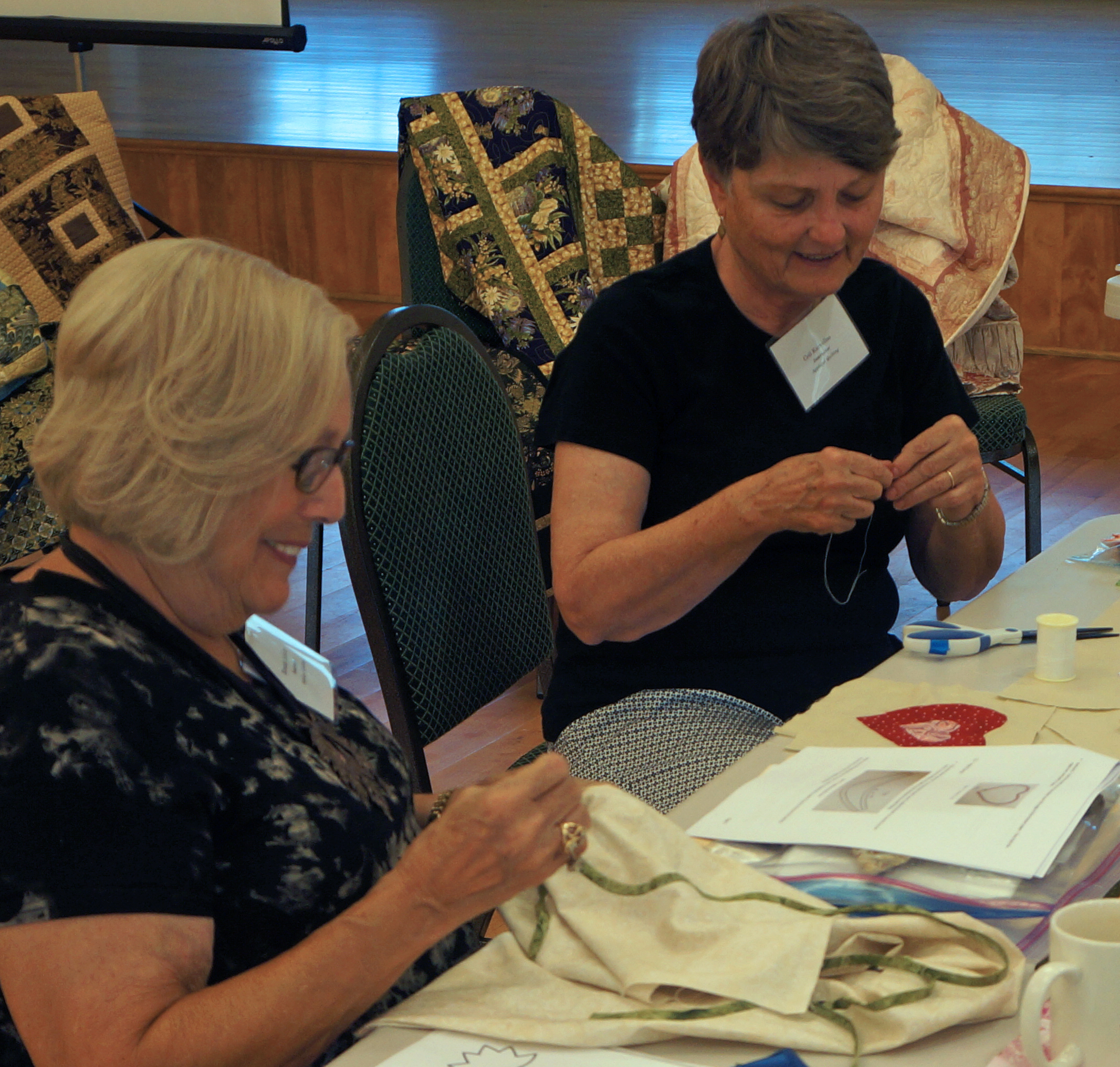 Quilting at the Waterford Heritage Crafts School