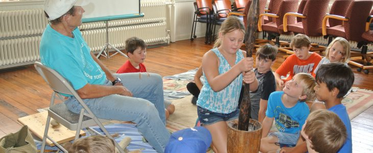 Kids at archaeology camp 2016
